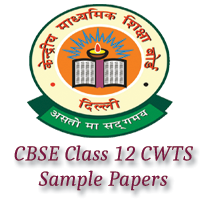 CBSE Class 12 CWTS Sample Papers