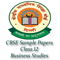 CBSE Sample Papers Class 12 Business Studies