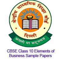 CBSE Class 10 Elements of Business Sample Papers Image