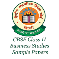 CBSE Class 11 Business Studies Sample Papers