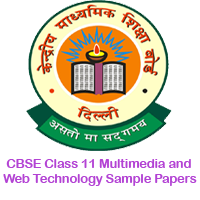 CBSE Class 11 Multimedia and Web Technology Sample Papers Image