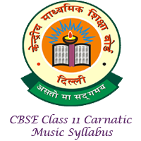 CBSE Class 11 Carnatic Music Syllabus 2017-18 Download @ cbse nic in